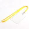 Plastic Vertical Style Yellow Neck Strap Name Position Company ID Card Holder