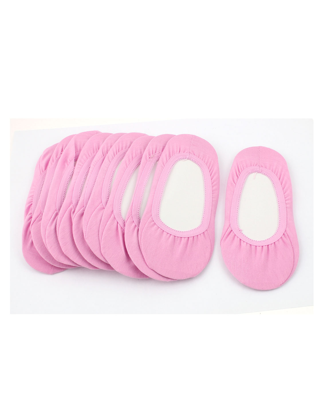 10Pairs Summer Pink Cotton Blends Elastic Slipper Heels Footsie Invisible Boat Socks for Women