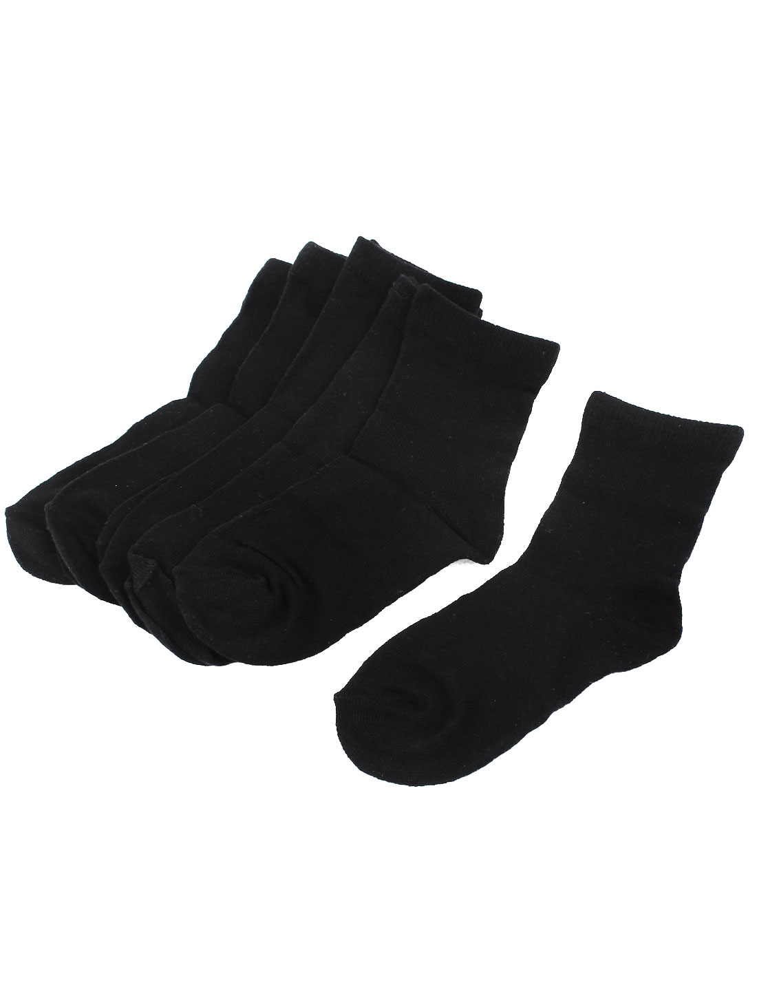 5Pairs Casual Black Cotton Blends Stretchy Cuff Ankle High Hosiery Socks Sockens for Boys