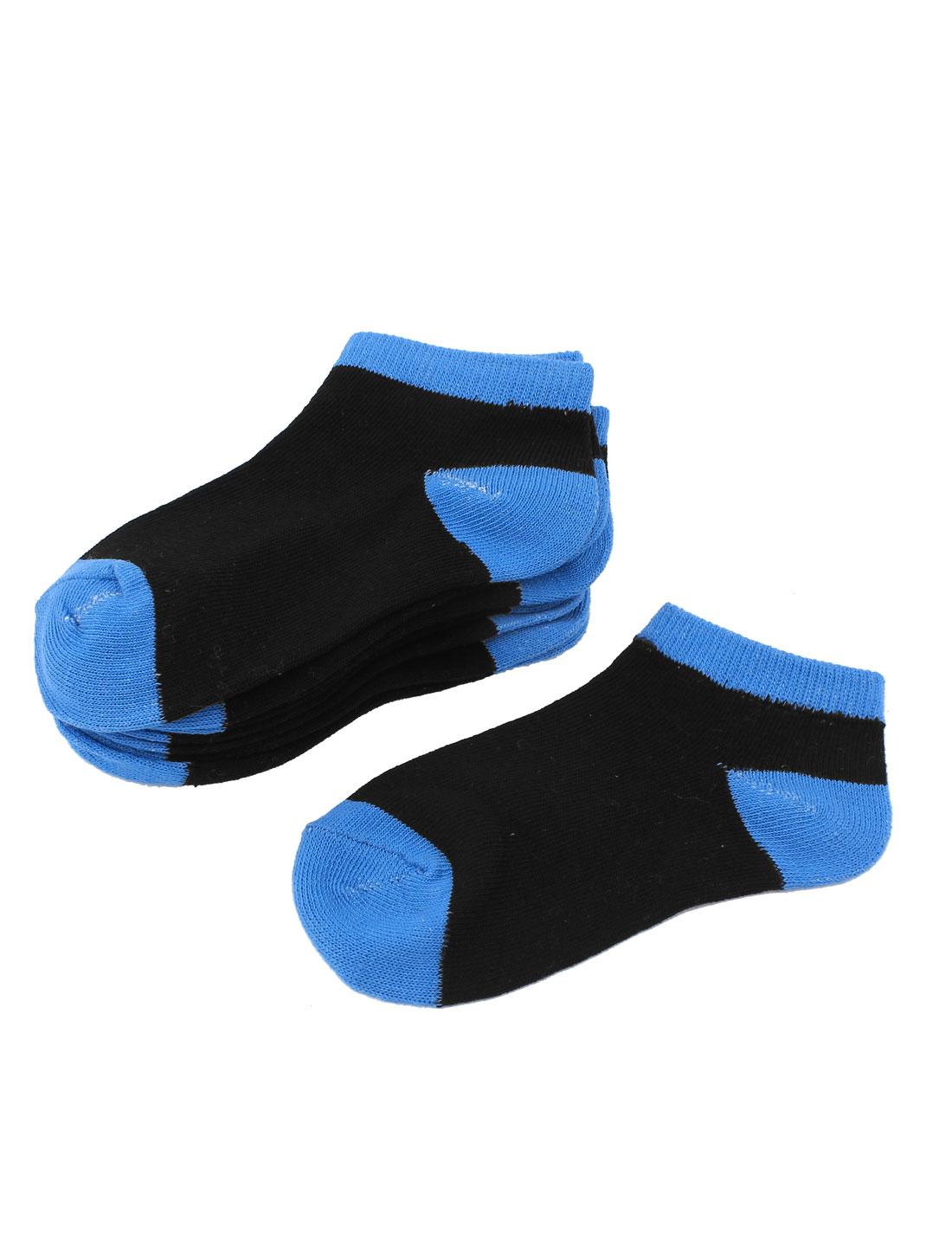 5Pairs Black Blue Cotton Blends Elastic Casual Short Low Cut Heels Hosiery Socks Sockens for Boys
