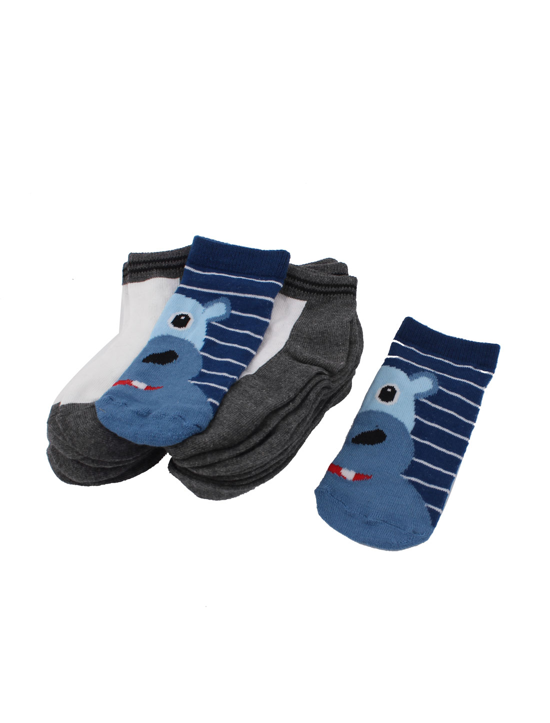 10Pairs Casual Blue White Gray Stretch Cuff Ankle Short Low Cut Socks Sockens for Boys