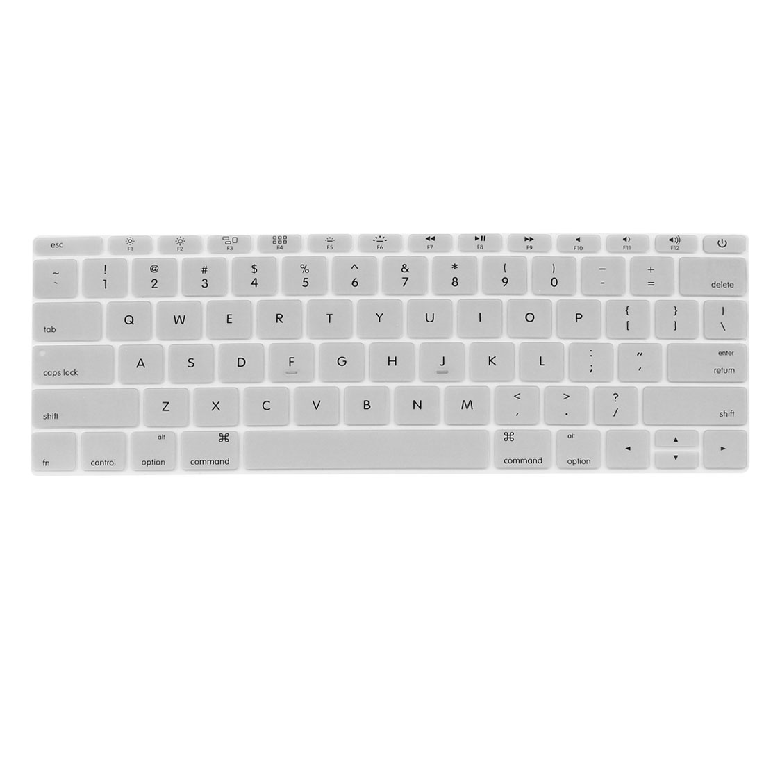 """Laptop Rubber Protective Shell Keyboard Skin Cover Silver Tone for MacBook 12"""""""