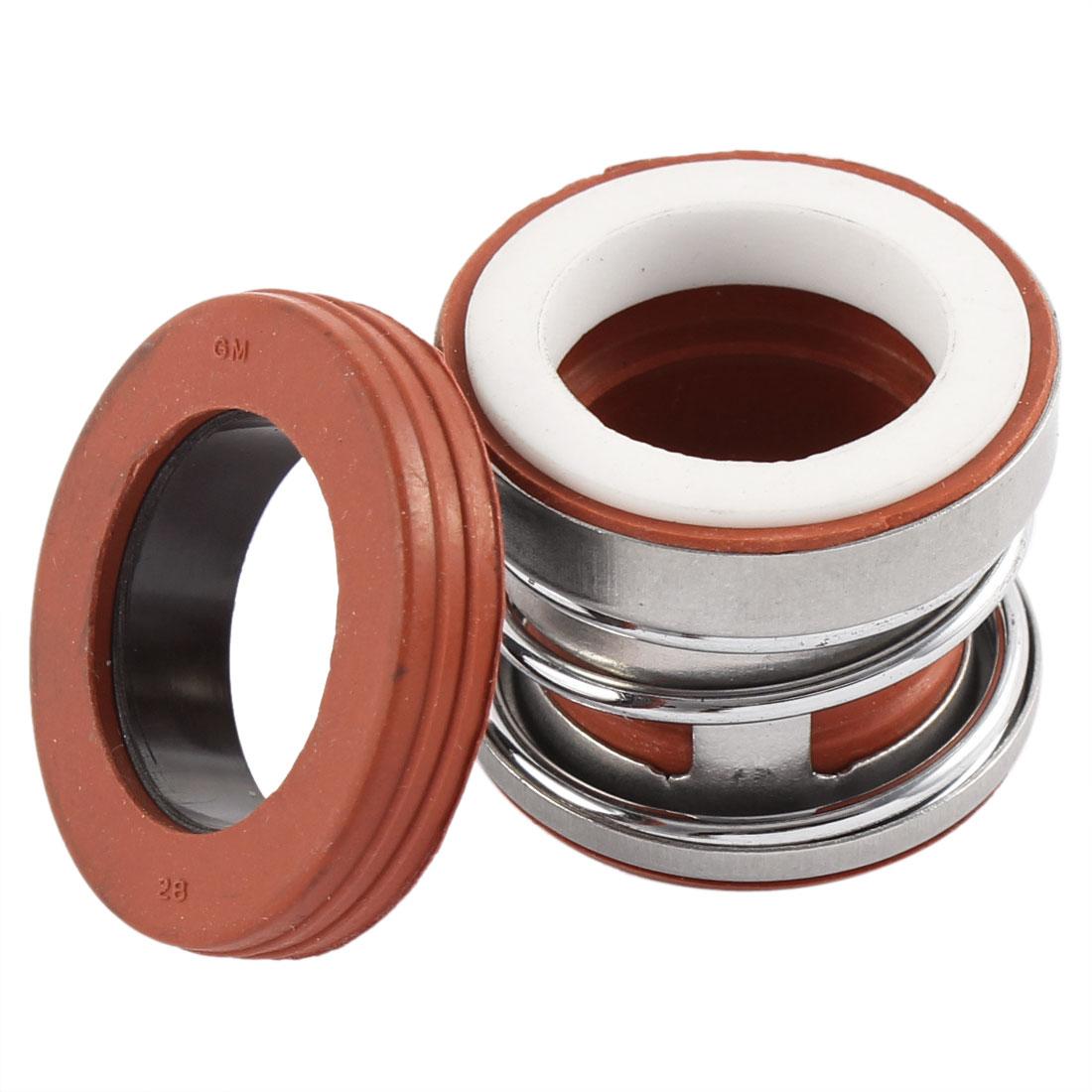 21mm x 21mm Rubber Bellows Pump Shaft Mechanical Seal Silver Tone