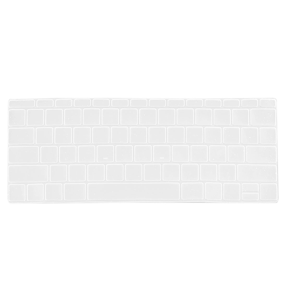 Laptop Rubber Protective Shell Keyboard Skin Cover Clear for MacBook 12""