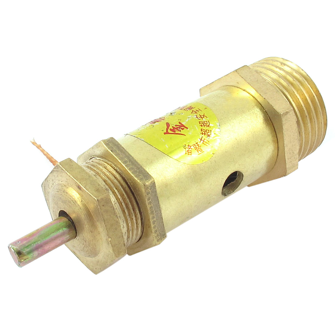 Metal Safety Blow Pop Off Compressor Pressure Relief Valve Gold Tone