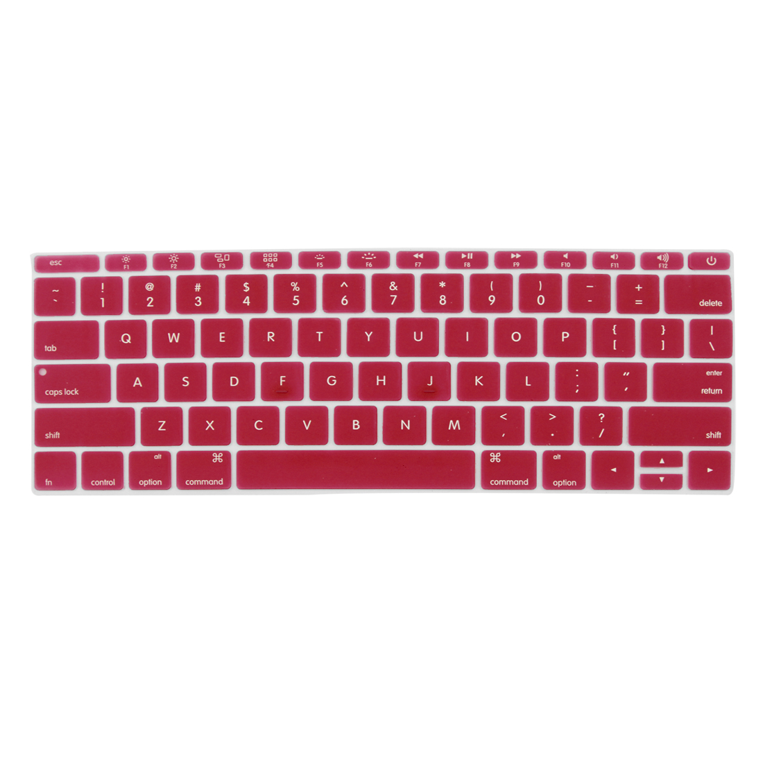 Laptop Rubber Protective Shell Keyboard Skin Cover Red for MacBook 12""