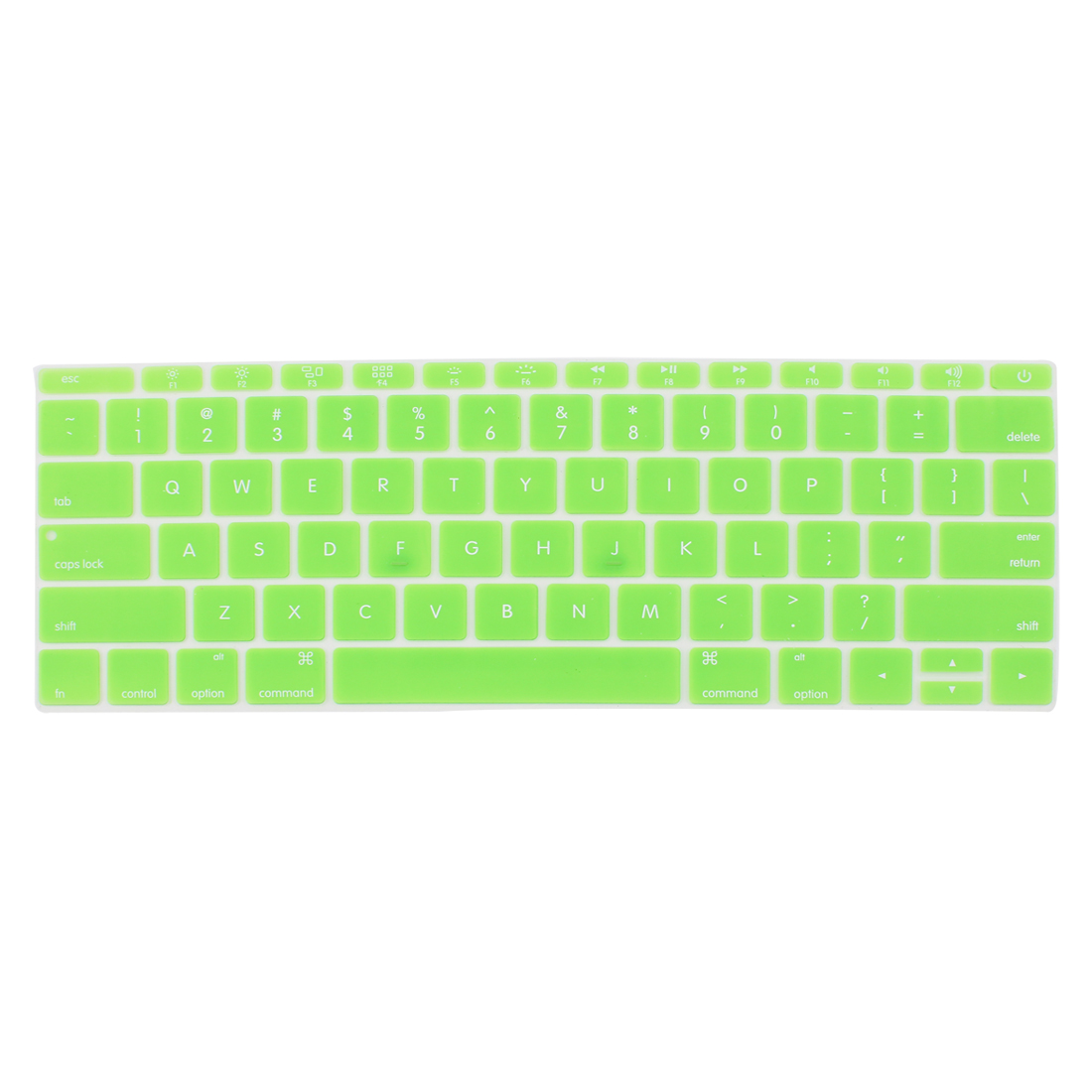 Laptop Rubber Protective Shell Keyboard Skin Cover Green for MacBook 12""