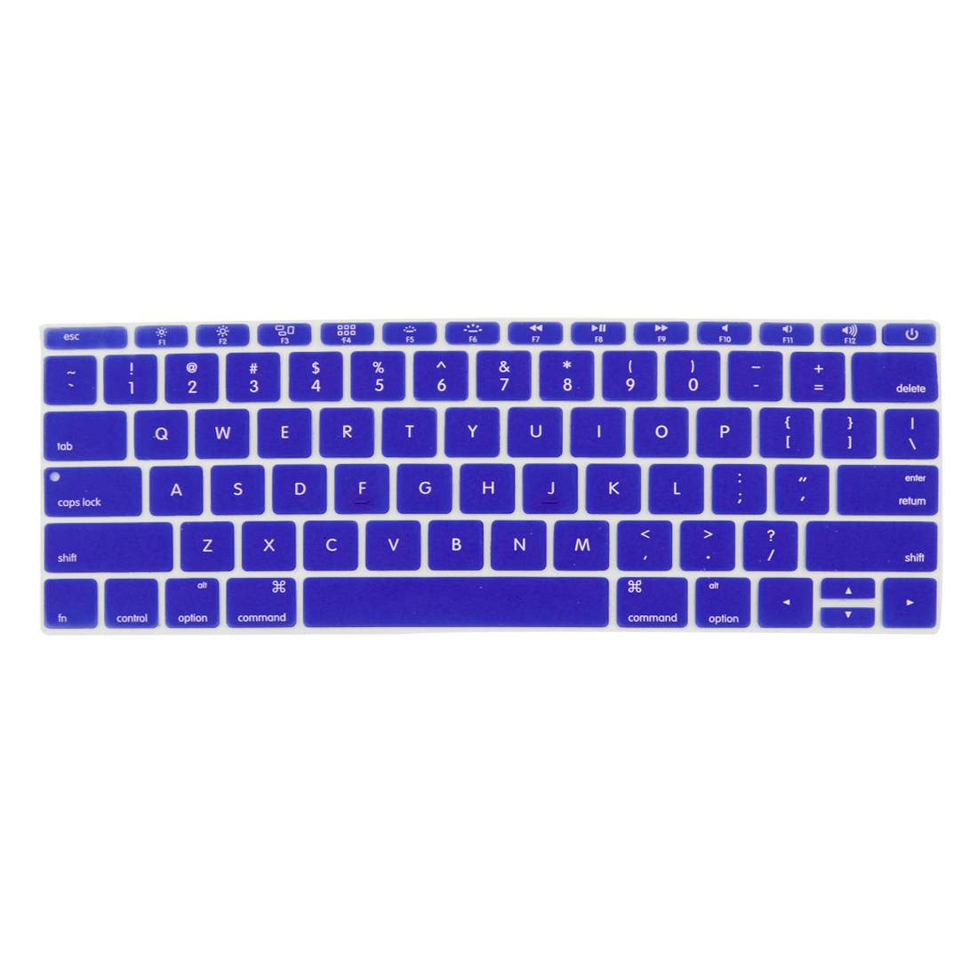 Laptop Rubber Protective Shell Keyboard Skin Cover Blue for MacBook 12""