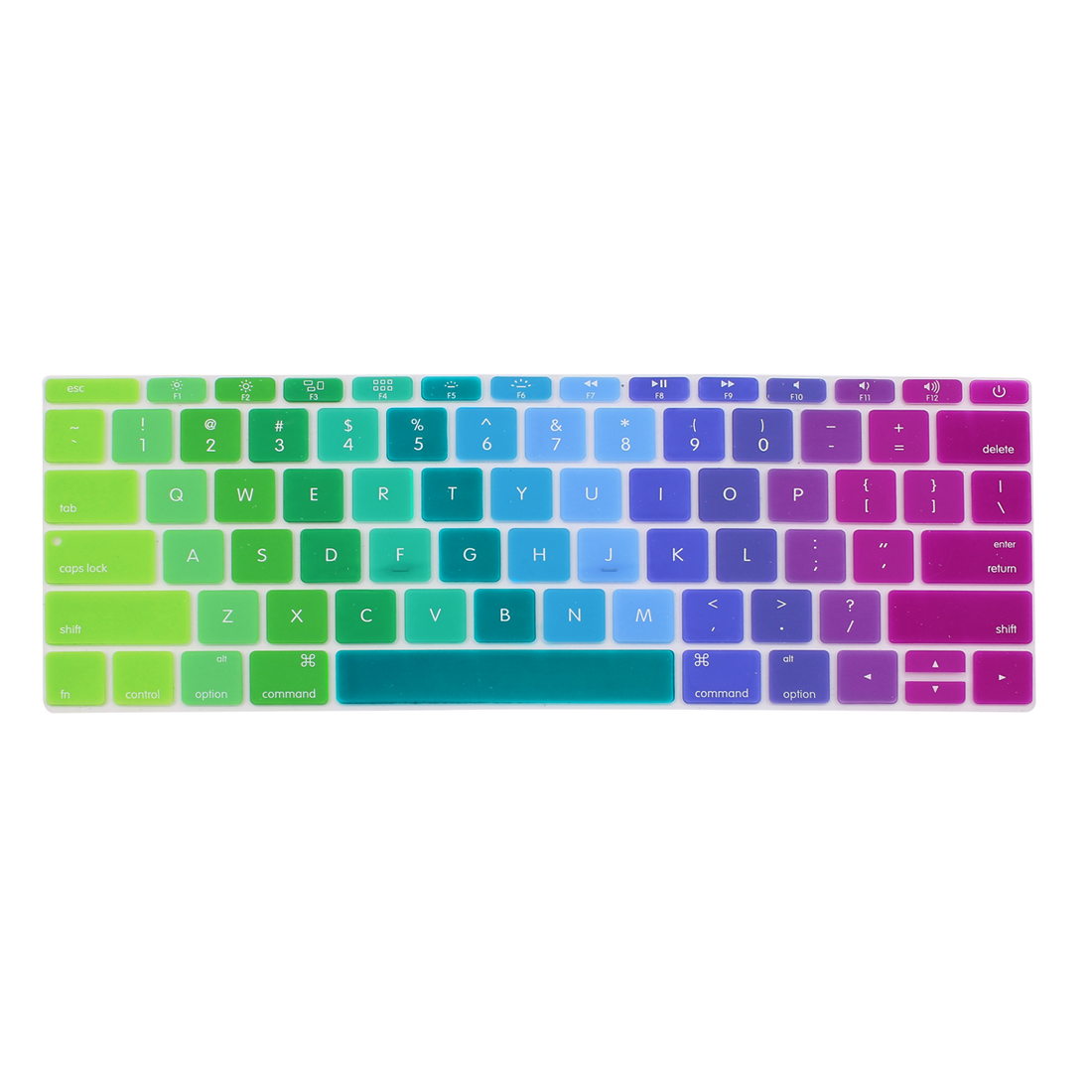 Laptop Rubber Protective Shell Keyboard Skin Cover Multicolor for MacBook 12""