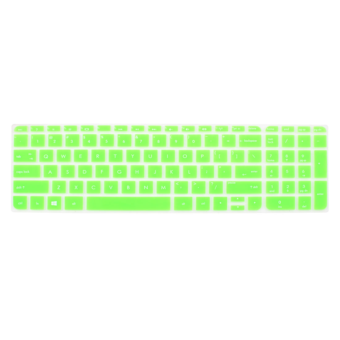 Silicone Keyboard Cover Protective Shell Green for HP Pavilion 15 Laptop