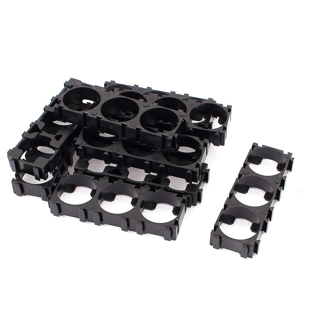 10 Pcs 18650 Lithium Battery Triple Holder Bracket for DIY Battery Pack