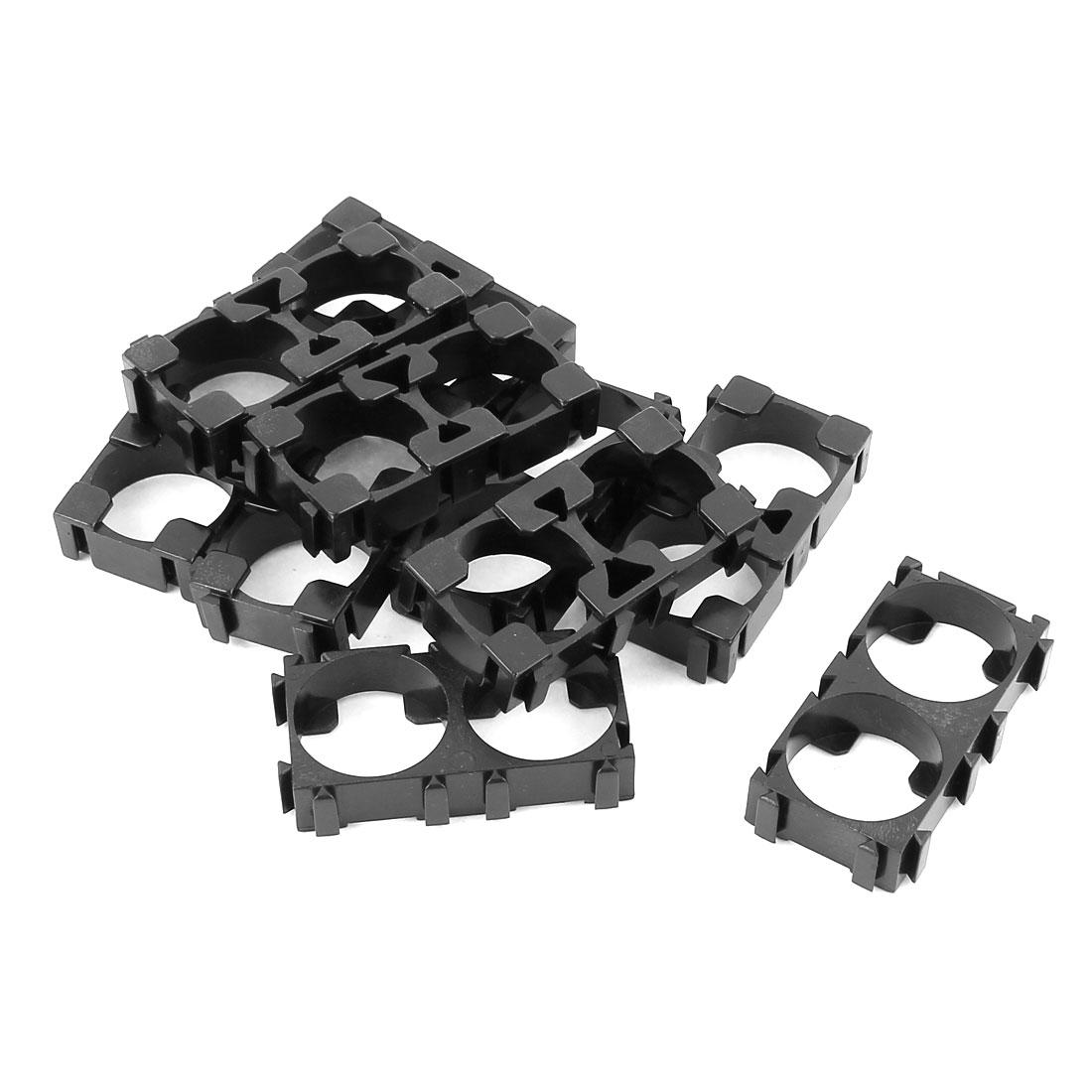10 Pcs 18650 Lithium Cell Battery Double Holder Bracket for DIY Battery Pack