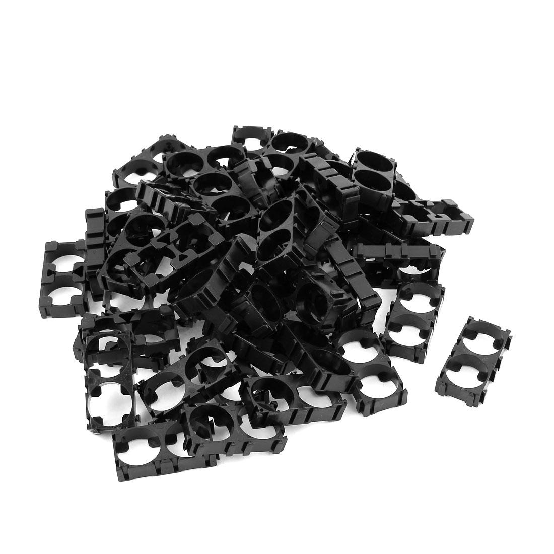 50 Pcs 18650 Lithium Cell Battery Double Holder Bracket for DIY Battery Pack