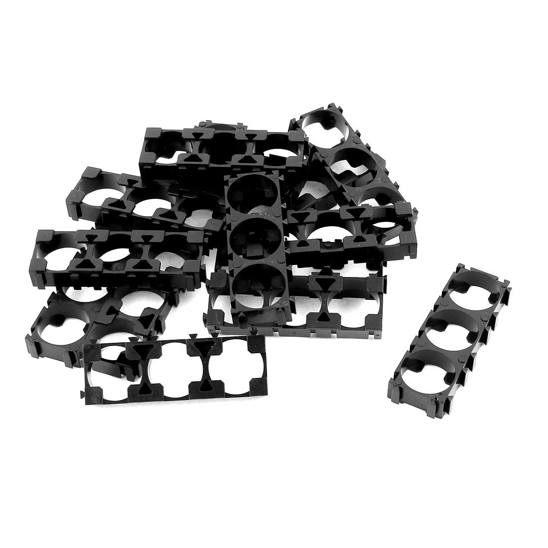15 Pcs 18650 Lithium Battery Triple Holder Bracket for DIY Battery Pack