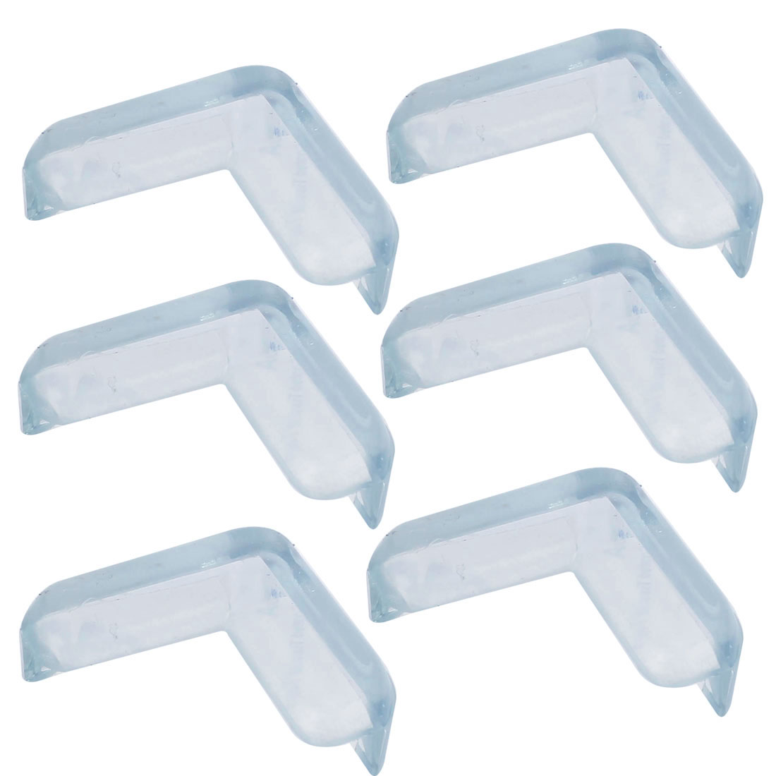 6 Pcs Clear Soft Rubber Desk Corner Pad Cover Protector Cushion