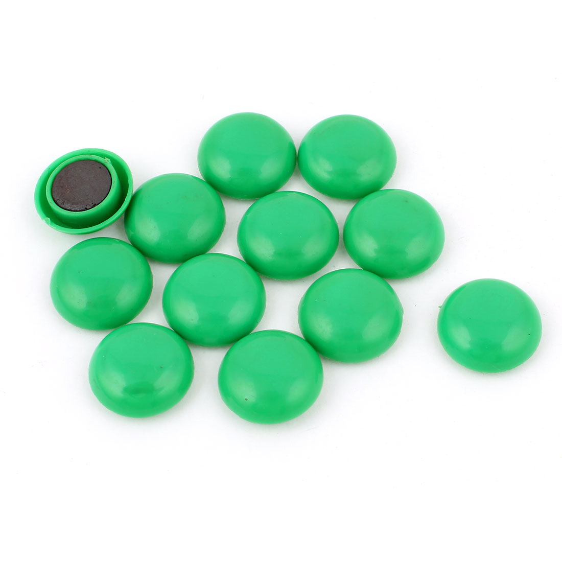 Home Office Round Green Blackboard Fridge Magnetic Stickers 12Pcs