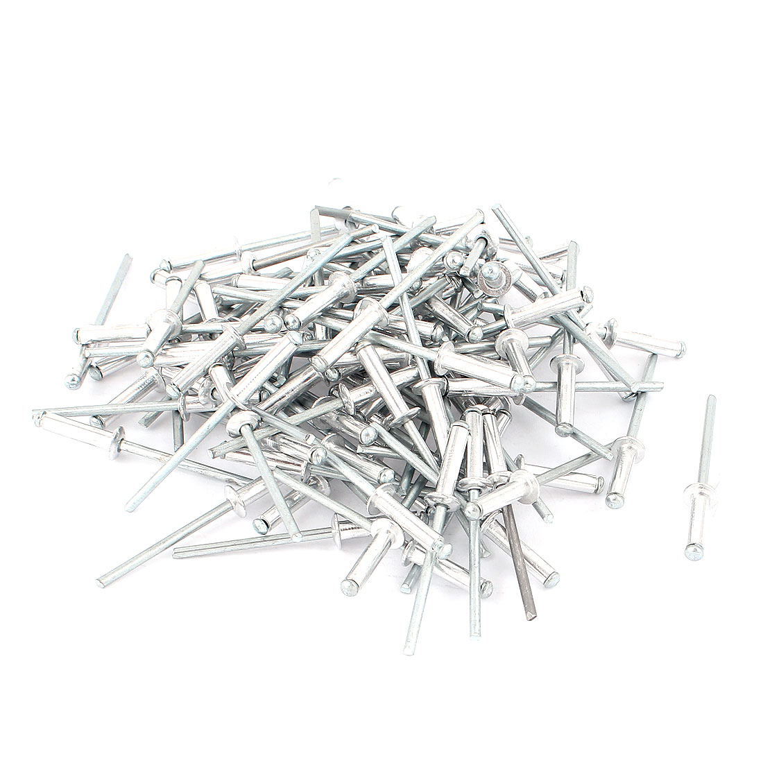 "100 Pcs 3.2mm 1/8"" Aluminium Large Flange Blind Pop Rivets"