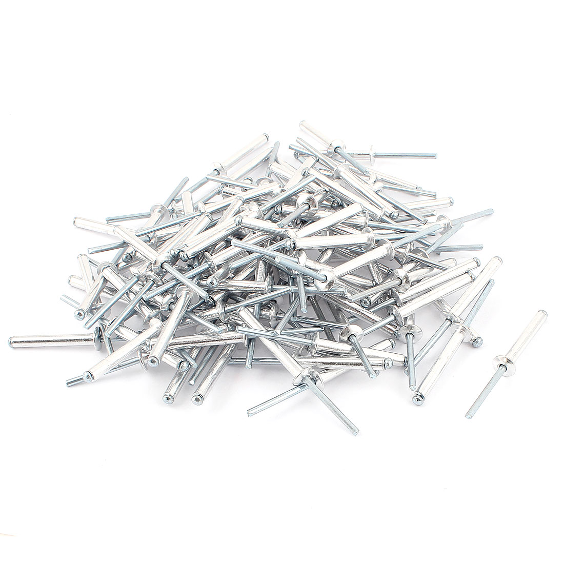 100 Pcs 5mm x 33mm Aluminium Open Dome Head Blind Pop Rivet 9.5mm