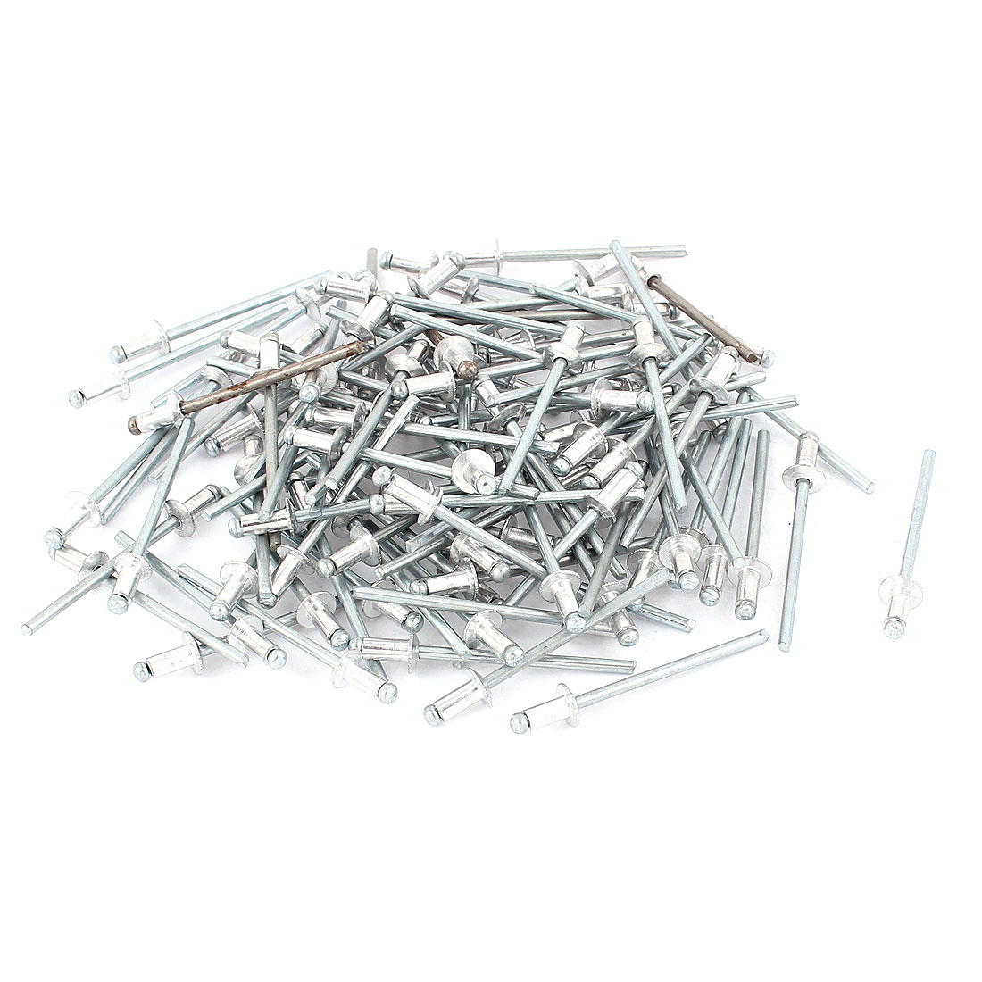 100 Pcs 3mm x 6mm Large Flange Dome Head Aluminium Blind Pop Rivets