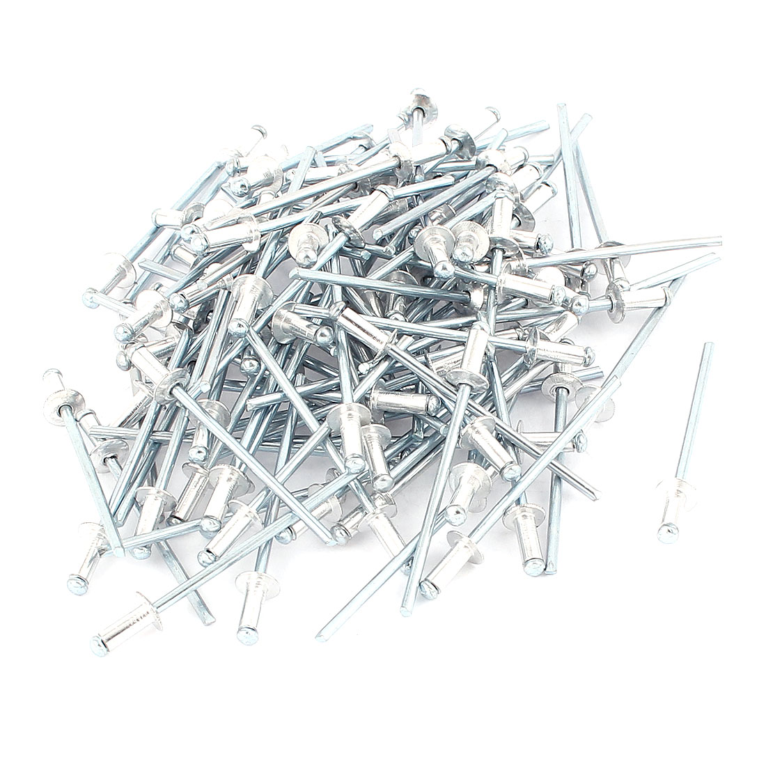 100 Pcs 2.4mm x 6mm Large Flange Dome Head Aluminium Blind Pop Rivets