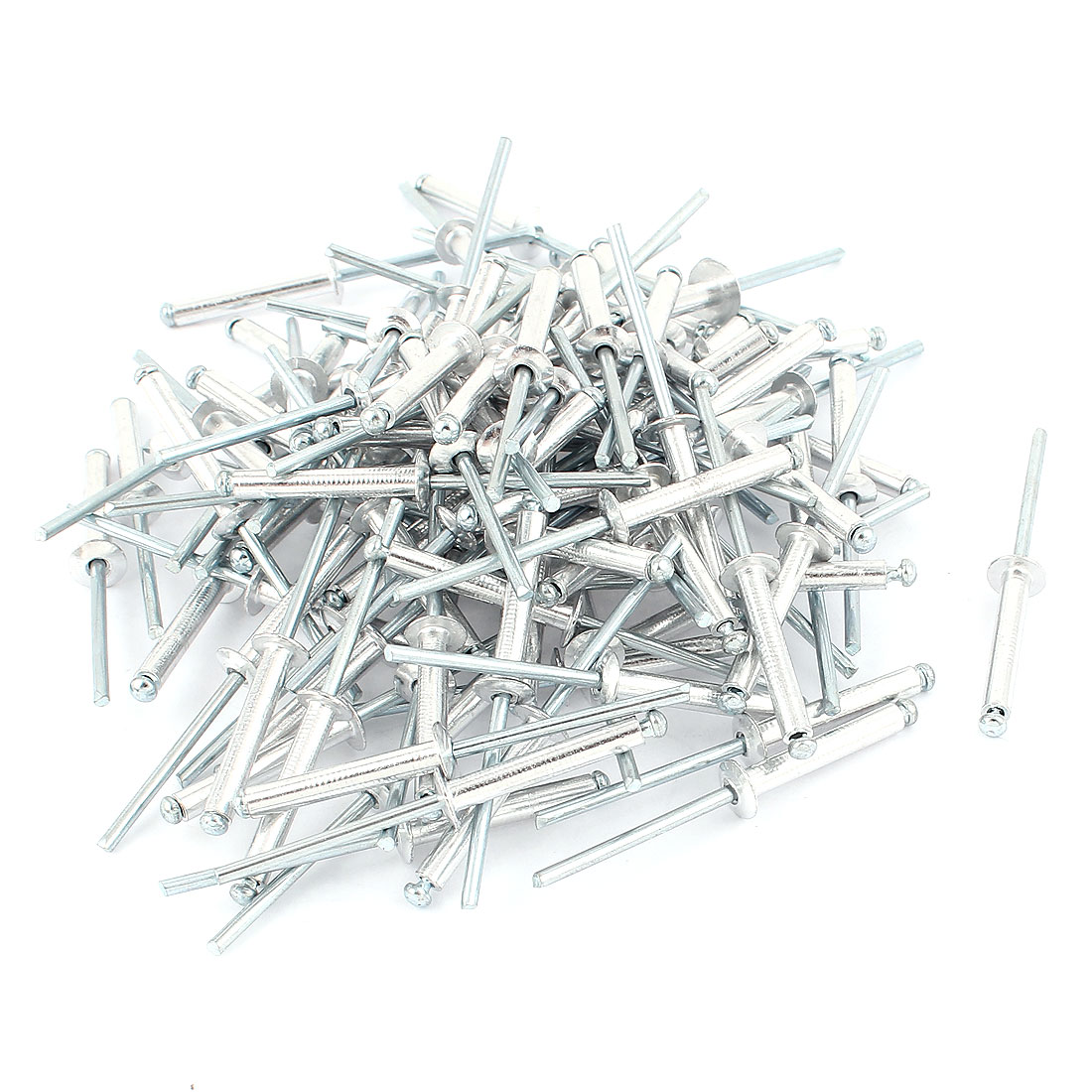 100 Pcs 4mm Aluminium Large Flange Open End Dome Blind Rivet