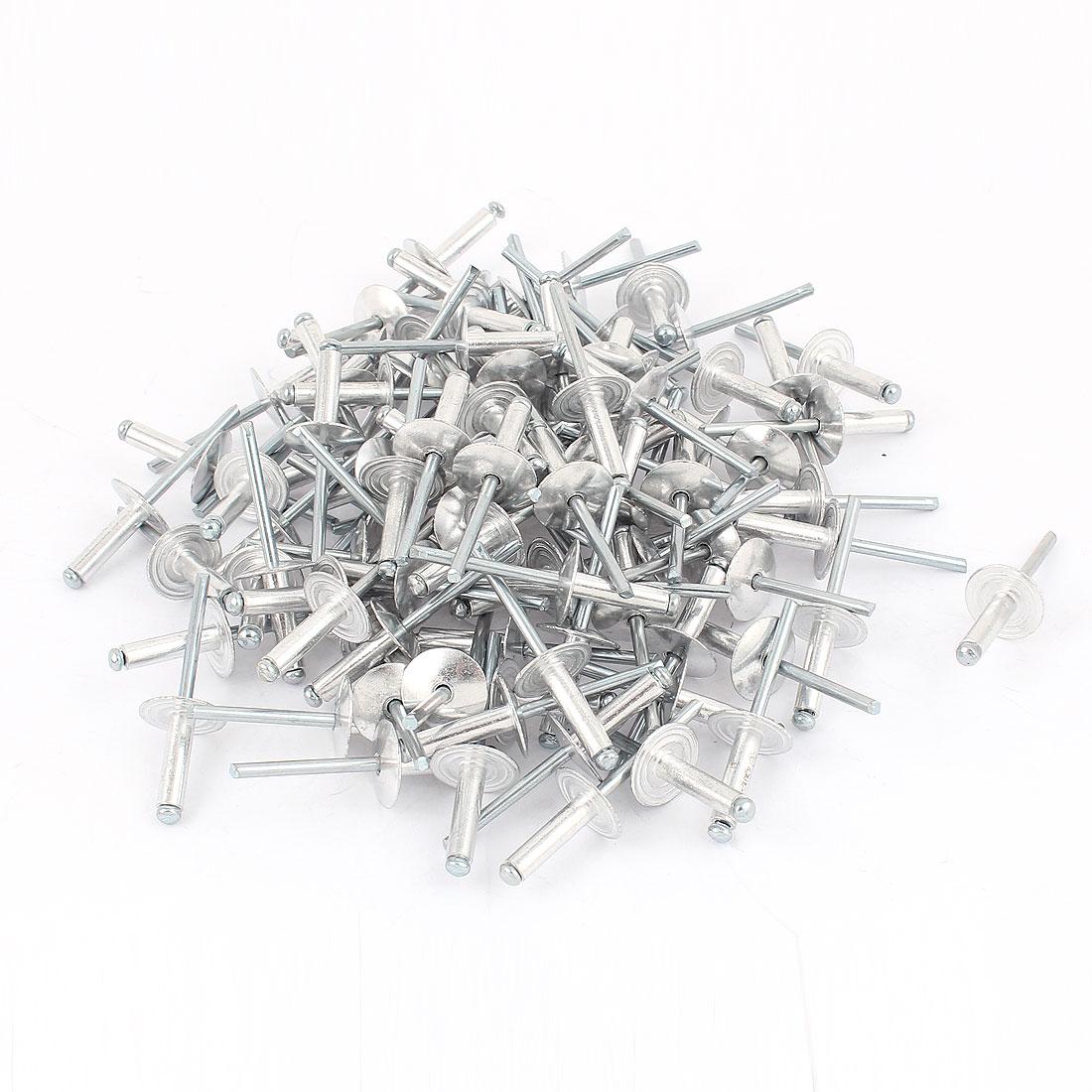 100Pcs 5mm x 18mm Aluminium Open End Dome Head Blind Pop Rivets