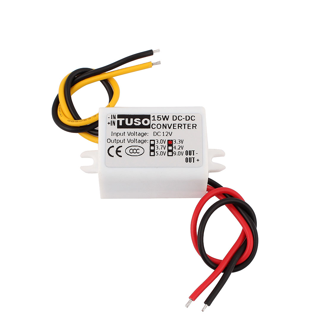 New DC/DC 12V Step Down to 3.3V 15W Waterproof Converter Power Supply Module