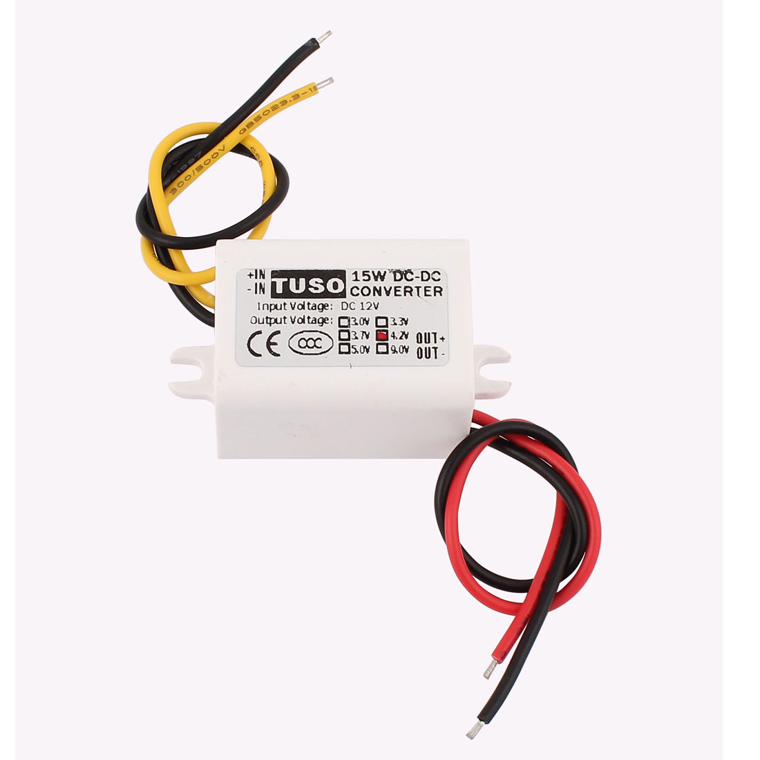 New DC/DC 12V Step Down to 4.2V 15W Waterproof Converter Power Supply Module