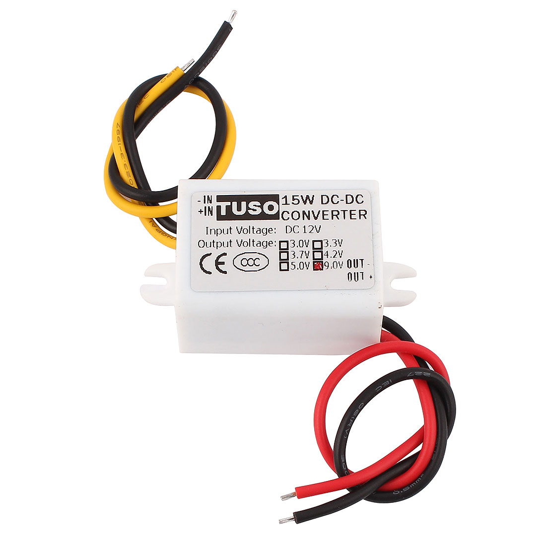 New DC/DC 12V Step Down to 9V 15W Waterproof Converter Power Supply Module