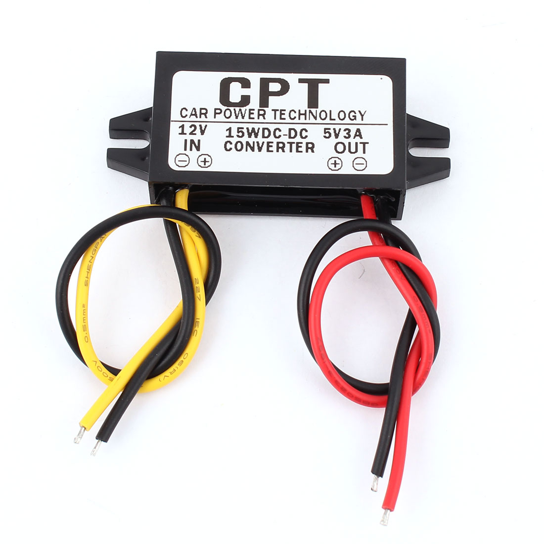 DC/DC 12 to 5V 3A 15W Step Down Converter Car Led Display Power Supply Module