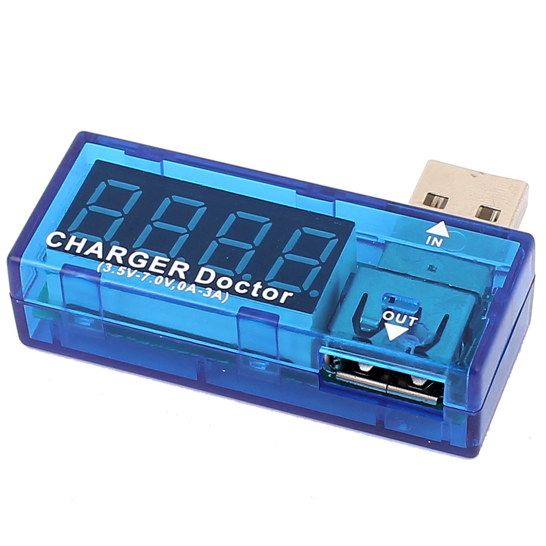 Portable USB Power Tester Detector Charger Voltage Current Meter Blue