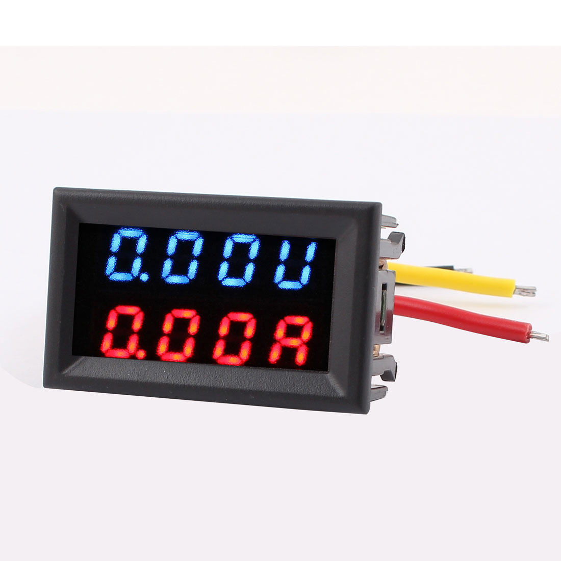 DC 0-300V 0-20A Mobile Battery Tester Dual LED Digital Voltage Current Meter