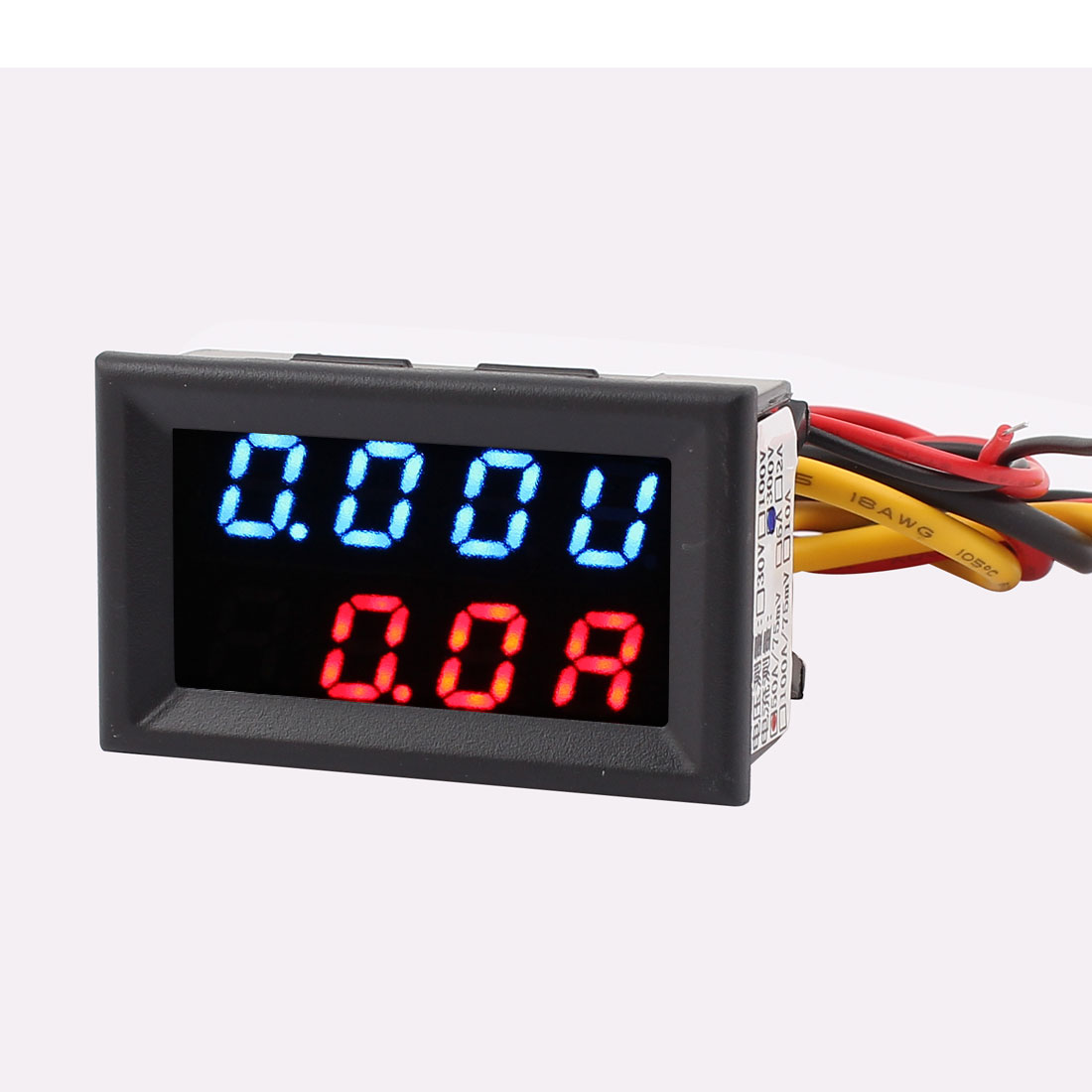 DC 0-300V 0-50A Blue Red LED Dual Digital Panel Voltmeter Ammeter Meter Gauge