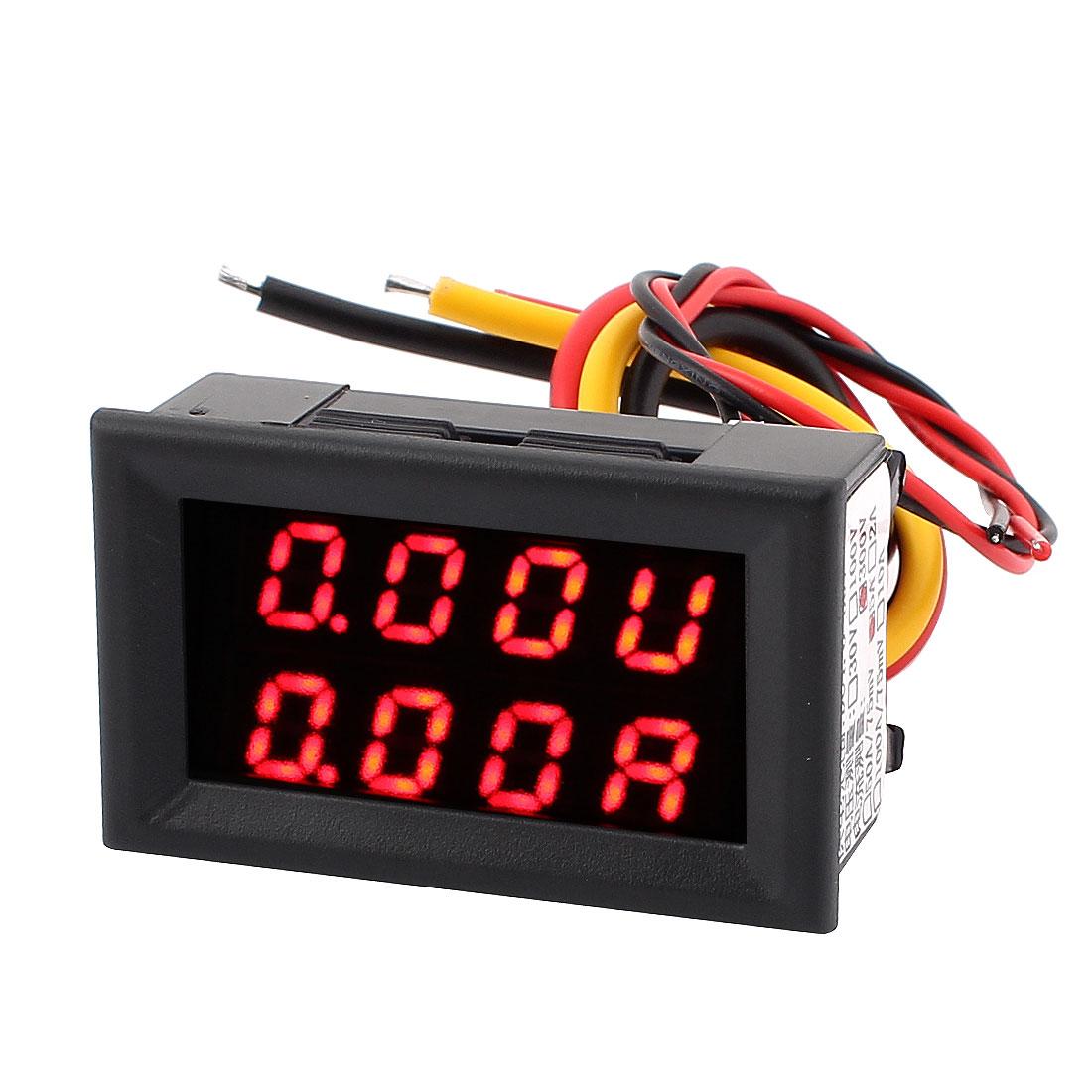 DC 0-300V 0-5A Dual LED Digital Battery Tester Monitor Voltage Current Meter