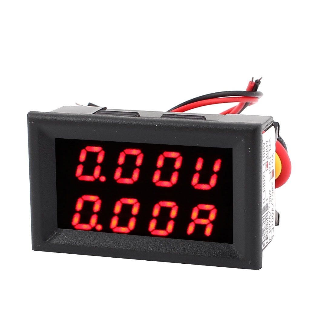 DC 0-300V 0-10A Dual LED Digital Mobile Battery Monitor Voltage Current Meter