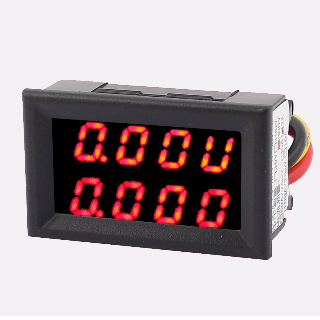 DC 0-300V 0-2A Red LED Dual Digital Panel Voltmeter Ammeter Meter Gauge