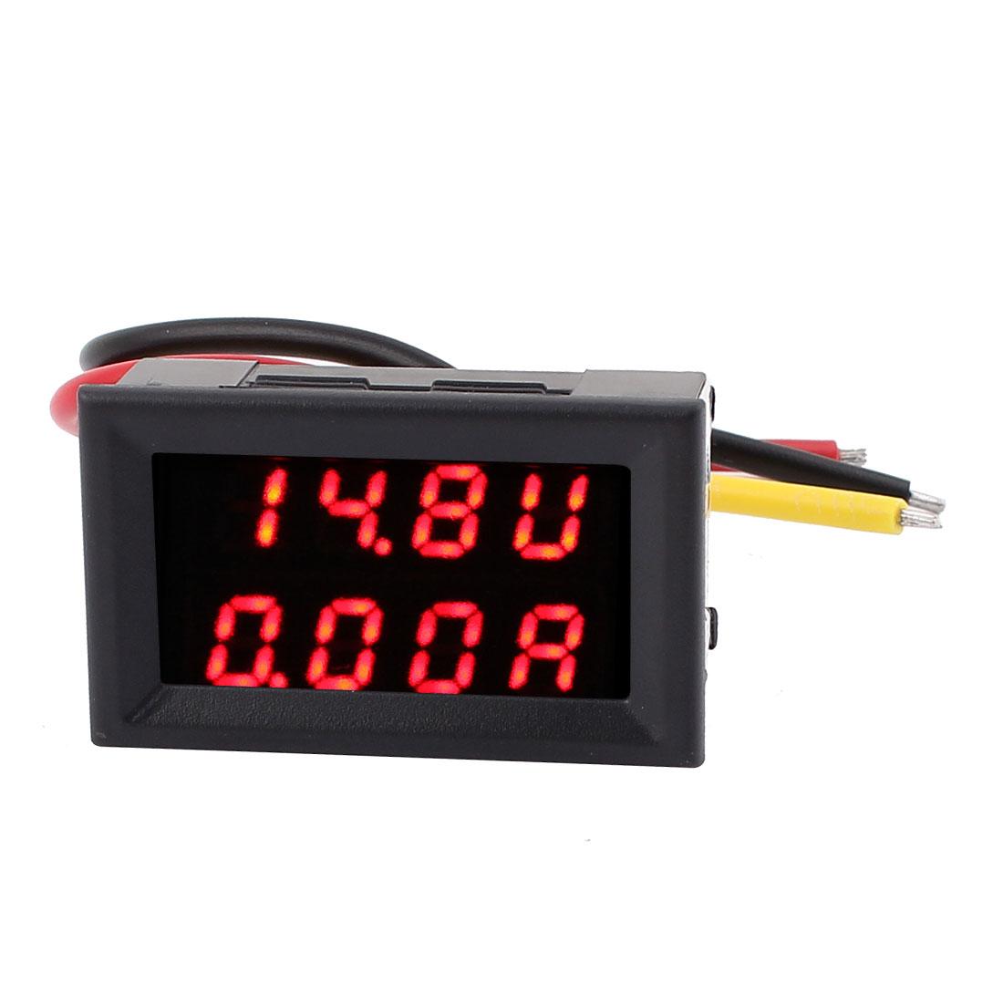 New DC 0-30V 0-20A Red LED Dual Digital Panel Voltmeter Ammeter Meter 2IN1