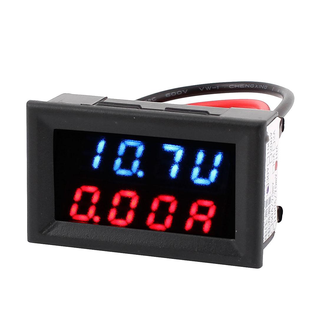 DC 4-30V 0-10A Dual LED Digital Battery Tester Monitor Voltage Current Meter