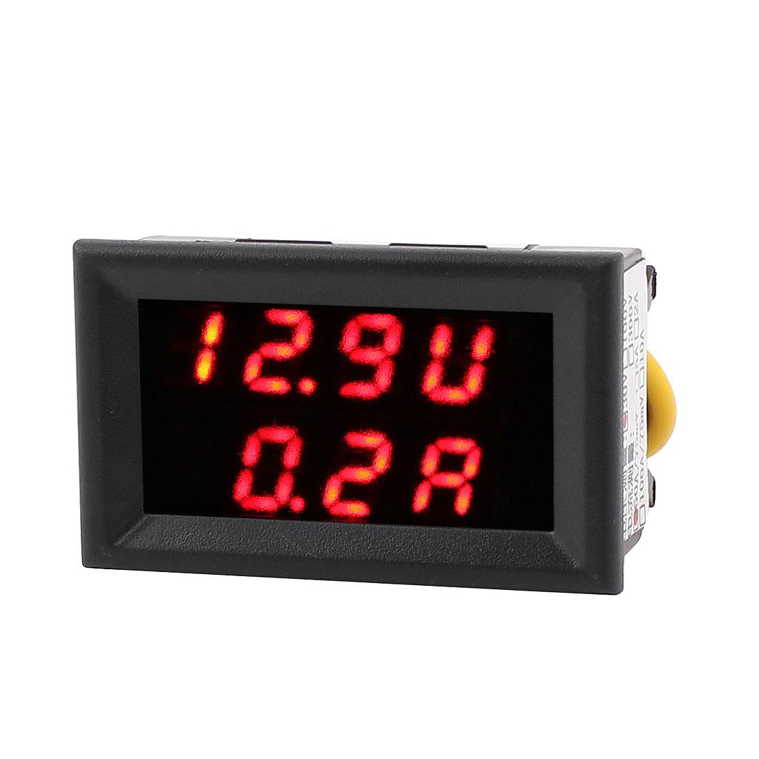 DC 4-30V 0-50A Battery Tester Monitor Dual LED Digital Voltage Current Meter