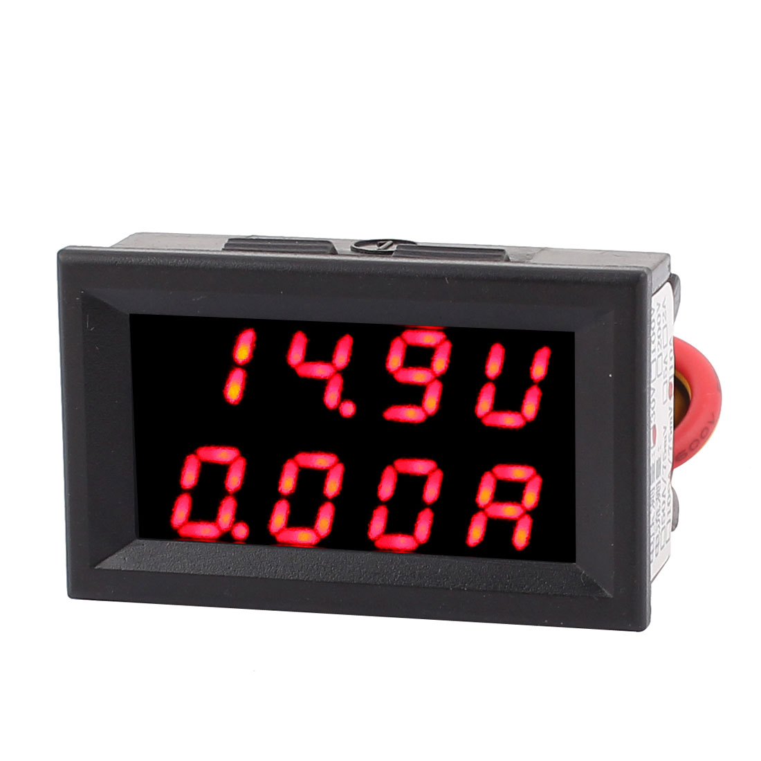 DC 0-30V 0-10A Red LED Dual Digital Panel Voltmeter Ammeter Meter 2IN1