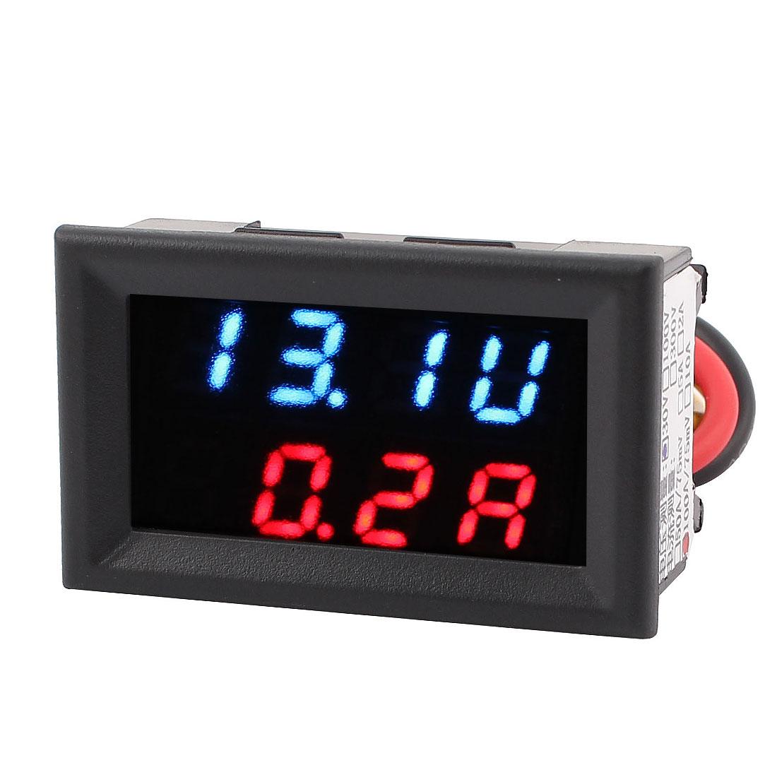 DC 4-30V 0-100A Power Battery Tester Dual LED Digital Voltage Current Meter