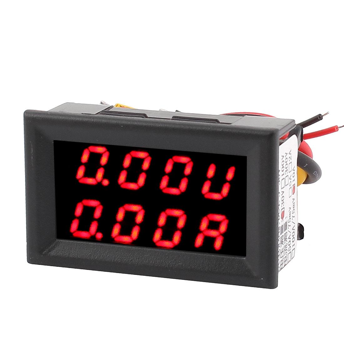 DC 0-30V 0-10A Red LED Dual Digital Panel Voltmeter Ammeter Meter Gauge