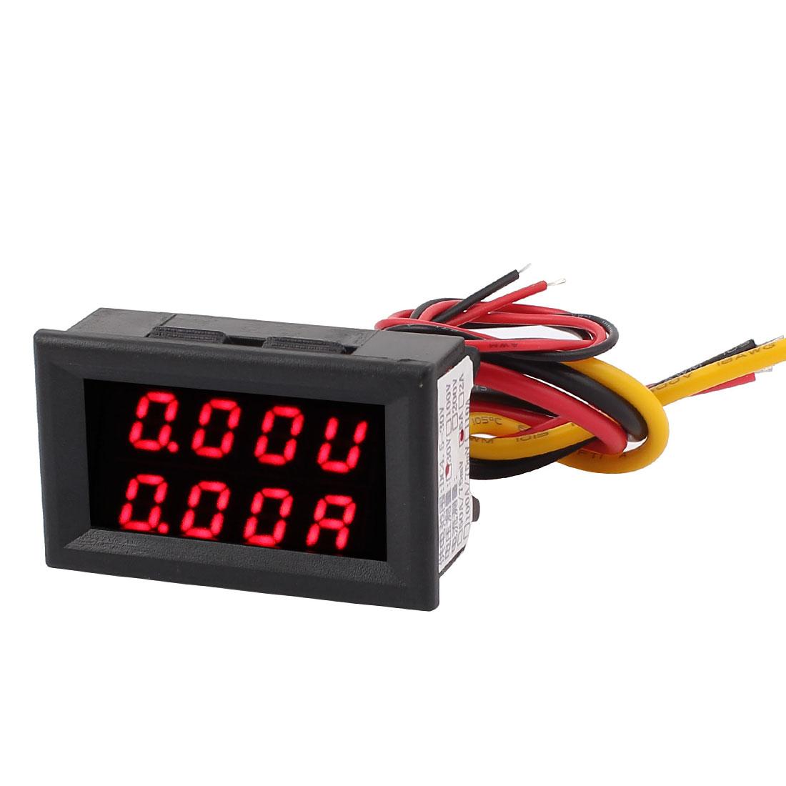 DC 0-30V 0-5A Red Red LED Dual Digital Display Panel Voltmeter Ammeter Meter