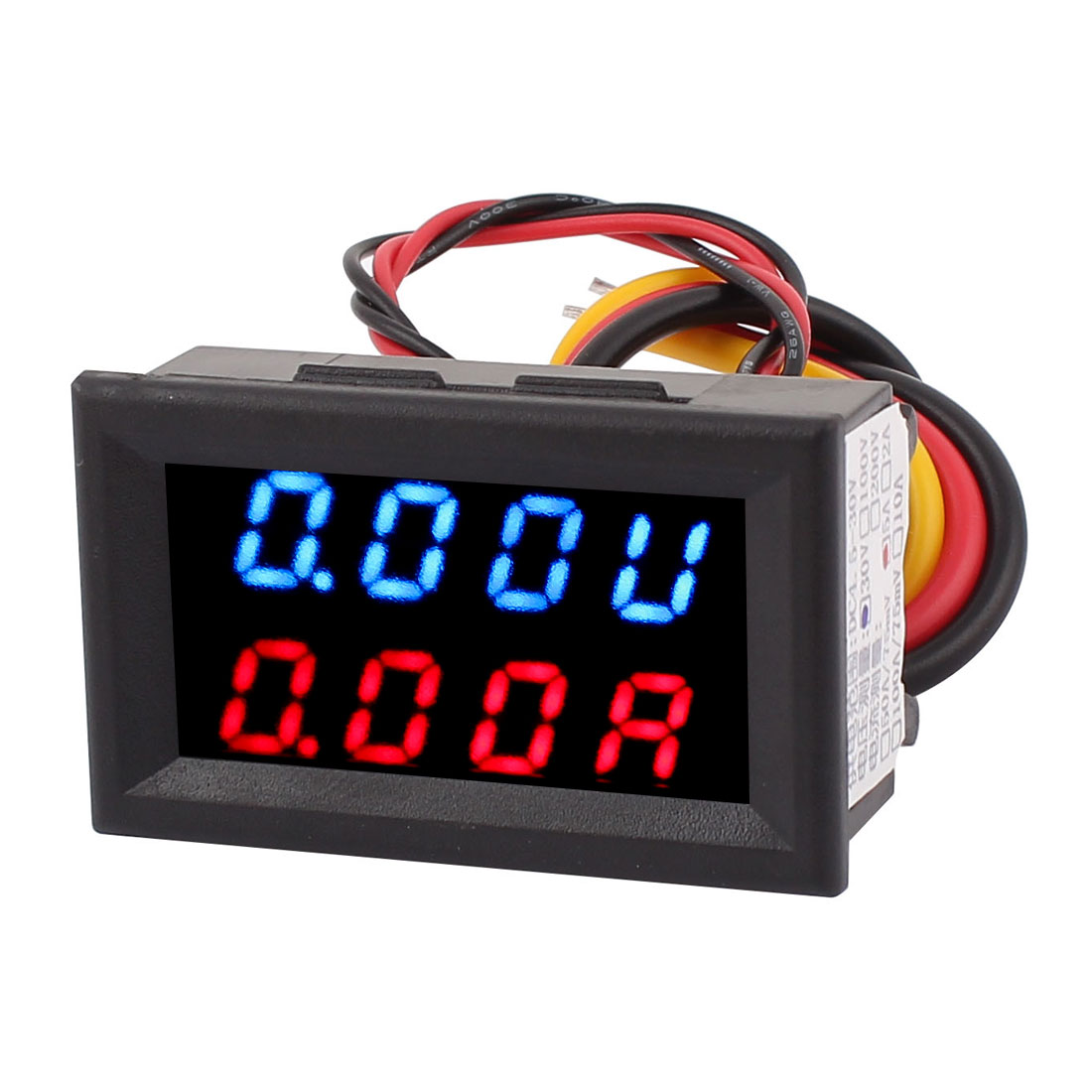 DC 0-30V 5A Blue Red LED Dual Digital Display Panel Voltmeter Ammeter Meter New