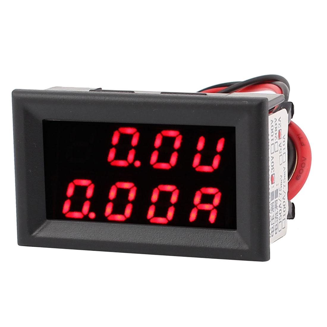 DC 0-30V 0-2A Red Red LED Dual Digital Display Panel Voltmeter Ammeter Meter