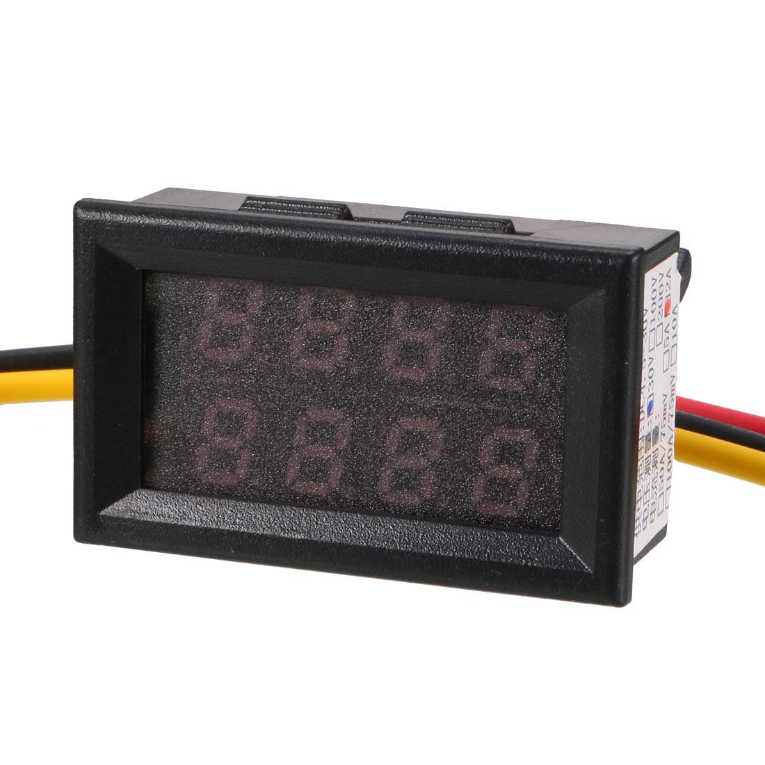 DC 0-30V 2A Blue Red LED Dual Digital Display Panel Voltmeter Ammeter Meter New