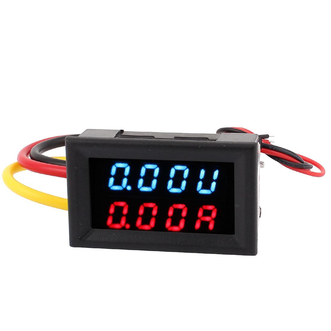 DC 0-100V 0-20A Dual LED Digital Mobile Battery Tester Voltmeter Ammeter