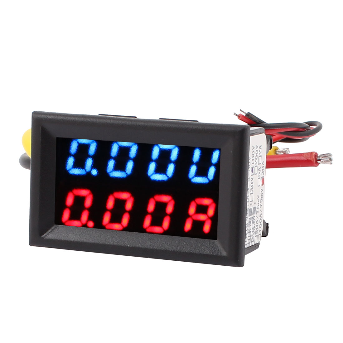 DC 0-100V 0-20A Blue Red LED Dual Digital Panel Voltmeter Ammeter Meter Gauge
