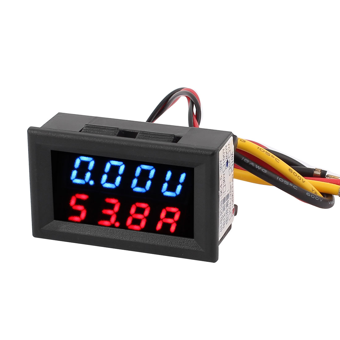 DC 0-200V 0-100A Blue Red LED Dual Digital Panel Voltmeter Ammeter Meter Gauge