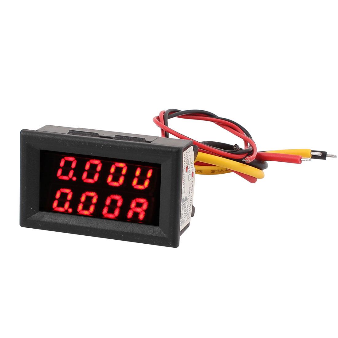 DC 0-200V 0-10A Dual LED Digital Mobile Battery Tester Voltage Current Meter